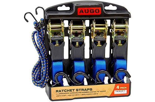 "4 Pack 04629 25/' x 2/"" Ratchet Tie-Down with J-Hooks"
