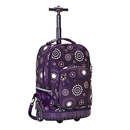 Rockland Printed Luggage 19-Inch Rolling Backpack