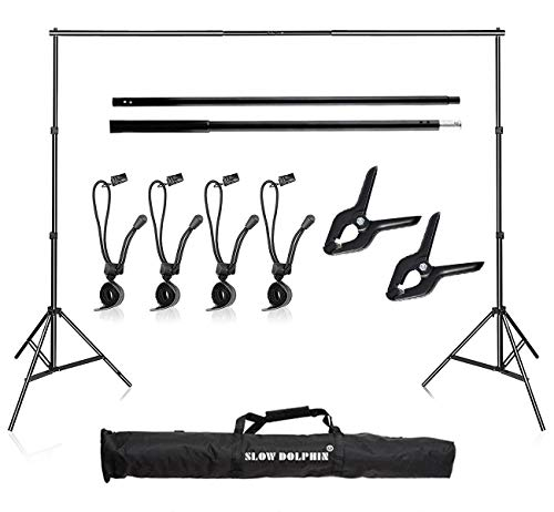 Slow Dolphin Photo 10Ft Adjustable Backdrop Background Stand