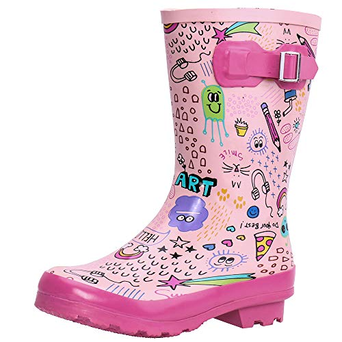 ALEADER Kids Rain Boots for Boys, Girls, & Toddlers