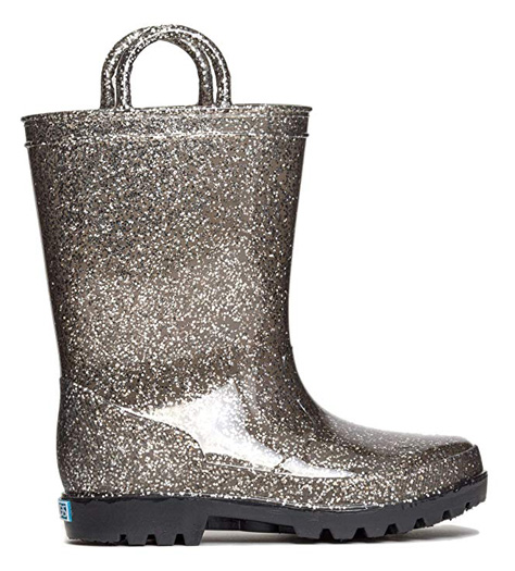 ZOOGS Kids Glitter Rain Boots for Toddlers and Girls
