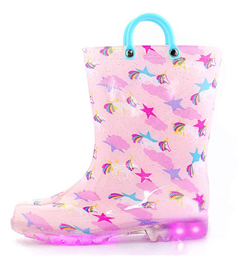 KomForme Toddler Boy/Girl Rain Boots with Light