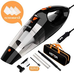 4. Car Vacuum, HOTOR Corded Car Vacuum Cleaner