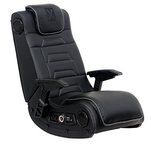 7. Leather Vibrating Floor Gaming Chair with Headrest for Adult by X Rocker