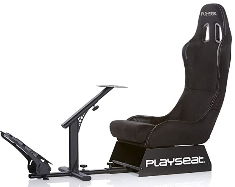 6. Black Alcantara Racing Floor Video Game Chair by Playseat