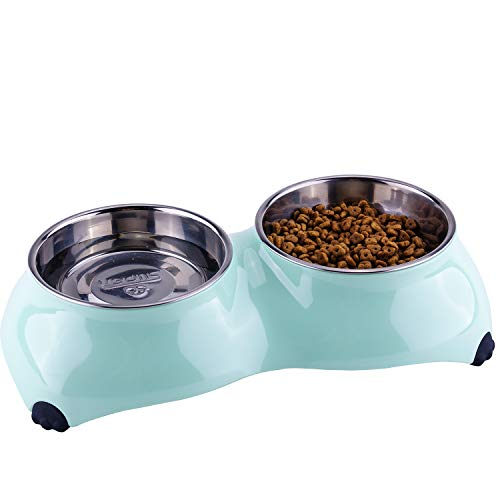 4. Stainless Steel Pet Bowls for Small to Large Dogs and Cats by Super Design