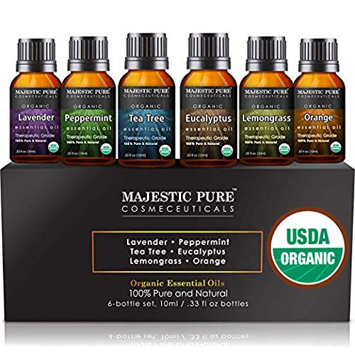 4. Organic Certified Essential Oil Set by MAJESTIC PURE