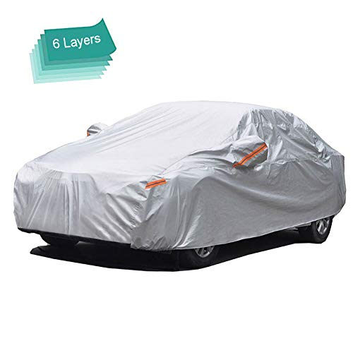 Sedans up to 160 Basics Silver Weatherproof Car Cover 150D Oxford