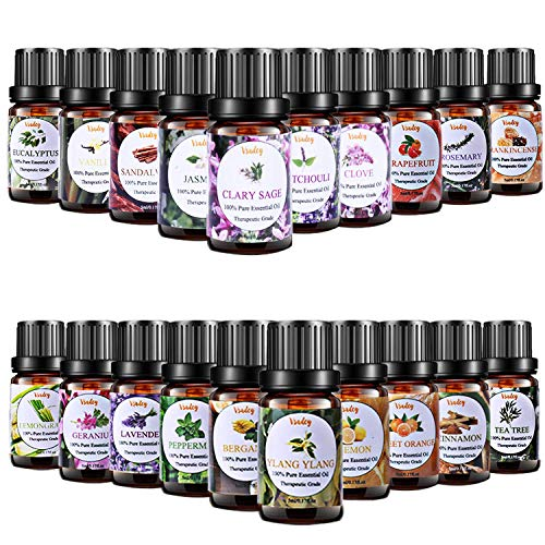 7. Pure Aromatherapy Essential Oil Set for Diffuser by Vasdey