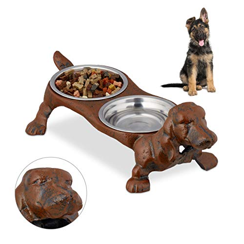 1. Double Dog Bowl Set by Relaxdays